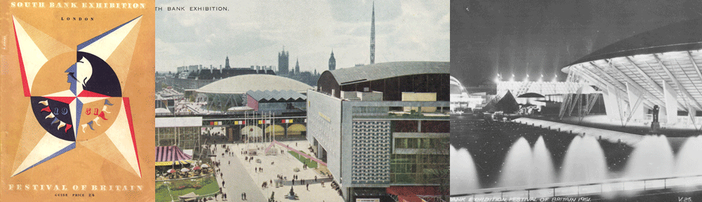 The Festival of Britain was staged on London's South Bank in 1951.
